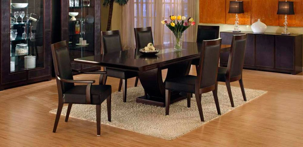 Ideas para decorar un comedor moderno for Mesas para muebles modernas