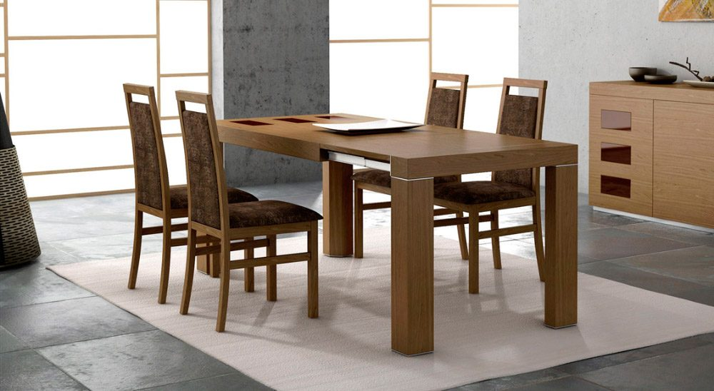 Ideas para decorar un comedor moderno for Mesas y sillas salon